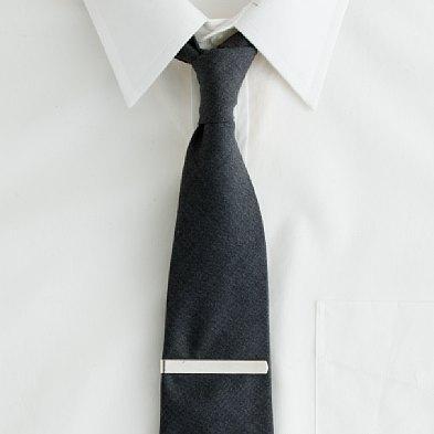 j crew italian wool suiting tie w sterling silver tie